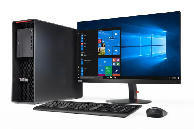 Lenovo ThinkStation P520 z monitorem