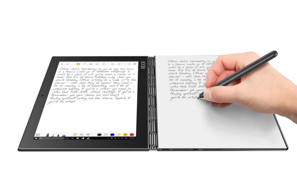 Yoga Book z systemem Windows z piórem Real Pen Stylus
