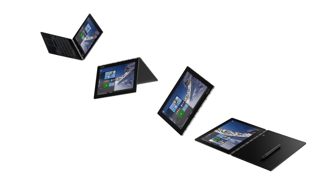 Smukły tablet Lenovo Yoga Book z systemem Windows